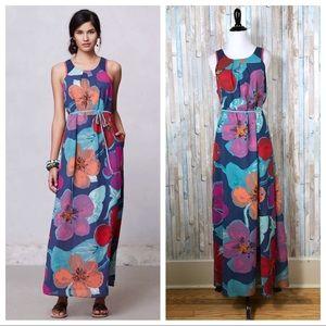 Anthropologie Maeve Pakpao Floral Maxi Dress